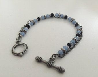 Something Blue Beaded Bracelet
