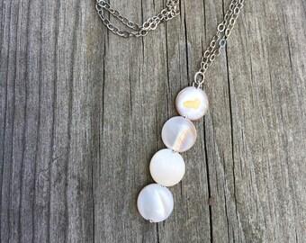 pearl lariat necklace, Y necklace