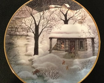 "Franklin Mint ""Moonlight Visitors"" Collector Plate"