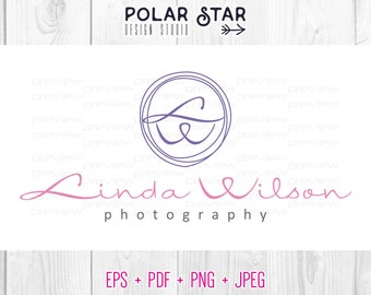 Simple Circle Design - Premade Logo and Watermark Customized For Photography / Any Business - Vector Logo Design (021)