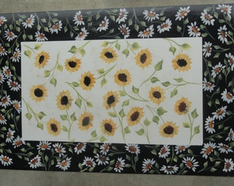 Hand Painted Floor Mats- Sunflowers and Daisies
