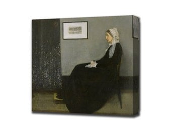 Whistler's mother, whistler mother reproduction, James McNeill Whistler painting, popular painting reproduction, canvas painting, wall art