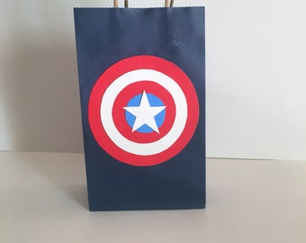 Captain America Goodie Bags 12 pk