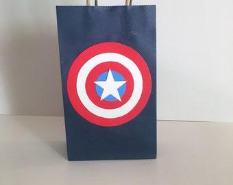 Captain America Goodie Bags 12 pk