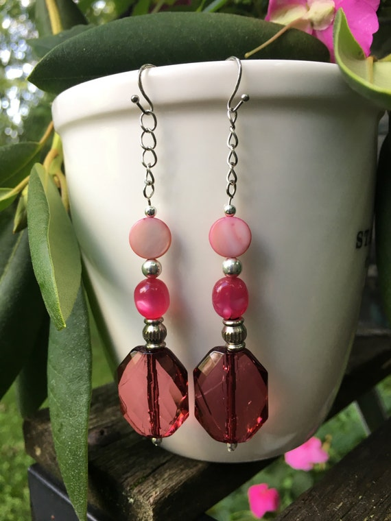 Violet Upcycled Lightweight Dangle Earrings For Very
