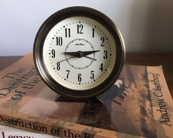 Vintage Seth Thomas Desk Study Clock - Bronze Brass Metal