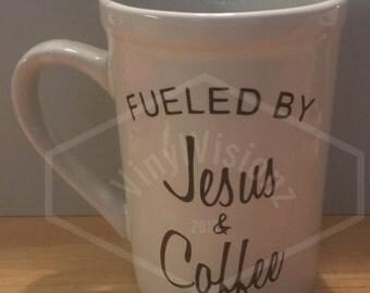 Fueled By Jesus and Coffee Mug-