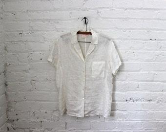 100% Irish Linen Button-up Shirt