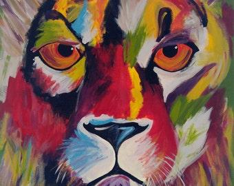 Lion Art Print, Wall Print, Art Print, Wall Decor
