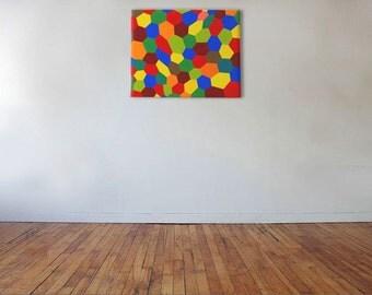 Honeycomb - Acrylic on canvas - 50cm x 40cm