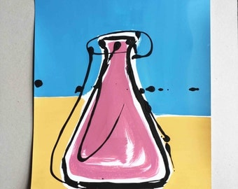 Pink Container (Mixed media on Cartridge) 45cm x 30.4cm