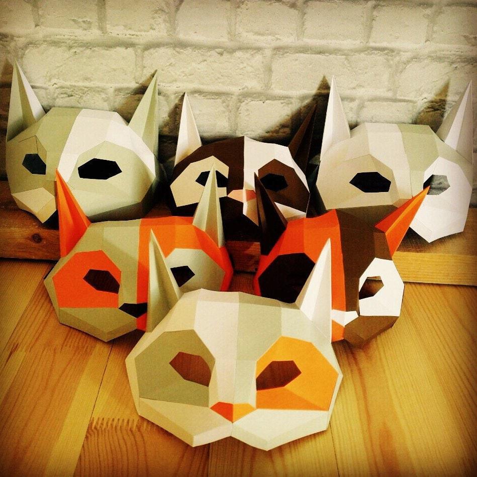 Diy Cardboard Masks: DIY Cat Mask/Paper Cat Mask/DIY Mask/Fancy Dress/Halloween