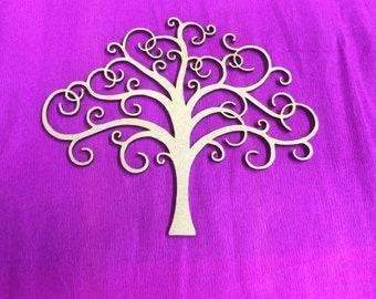 Laser Cut MDF Trees pack of 5