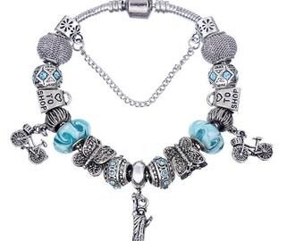 Bracelet European Style Pandora 16 beads size 19 cm