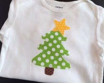 Christmas Tree Bodysuit, Christmas Bodysuit, Xmas Tree Bodysuit