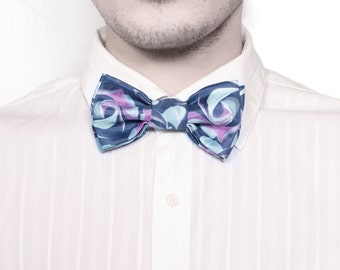 Bow Tie blue roses