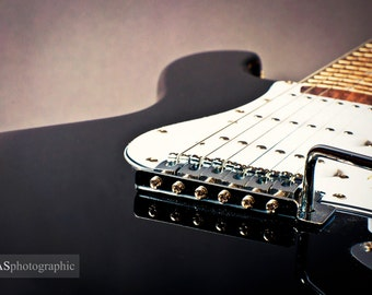Vintage guitar - Fine art photographic print by fasphotographic