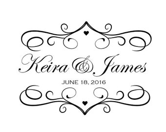 Custom Bride and Groom Wedding Logo Name Design for Signs or Gobo
