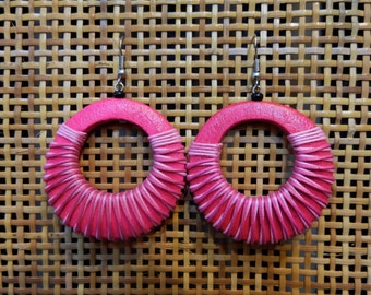 Colorful Circle Wooden Earrings