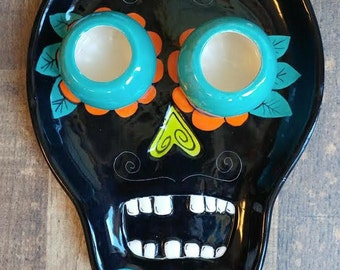 Day of the Dead Catrina Halloween Chip and Dip Tray