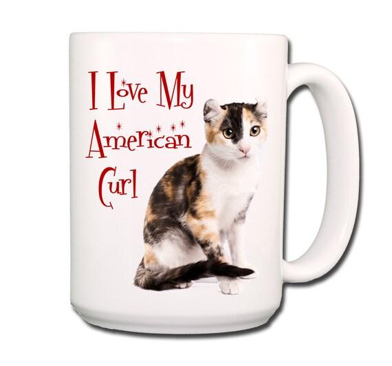 American Curl Cat I Love My Cat Large 15 oz Coffee Mug No 1