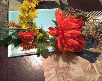 Orange and Yellow Mixed Flower Crown