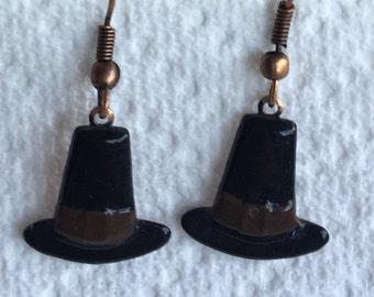 Pilgrim Hat Earrings