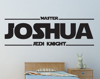 Personalised Jedi Knight Vinyl Wall Decal / Sticker - Star Wars - Jedi Knight
