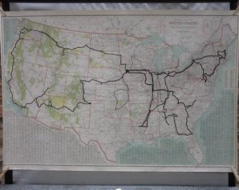 Huge Us Map Etsy - Huge us map