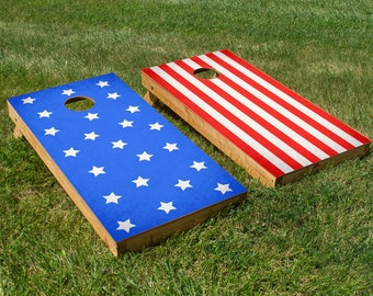 Stars and Stripes Cornhole Board Set