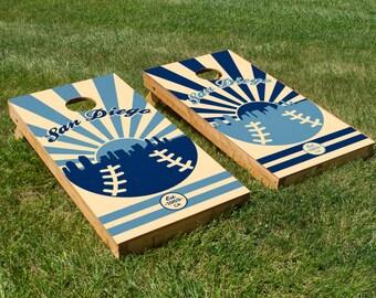 San Diego Baseball Cornhole Board Set