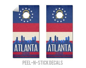 Atlanta State Flag Skyline Decals