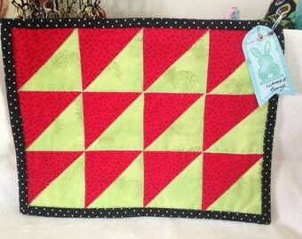 Watermelon snack mat/ mug rug