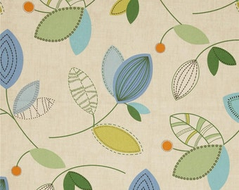 "Valance, Pair of Curtain/Drapery Window Treatment Panels 50"" in width by up to 120"" in length - Blues, Greens, Beige"