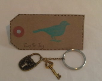 Lock and Key Keychain