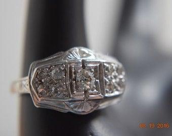 18K White Gold Ring, Wedding Ring,  Pinky Ring