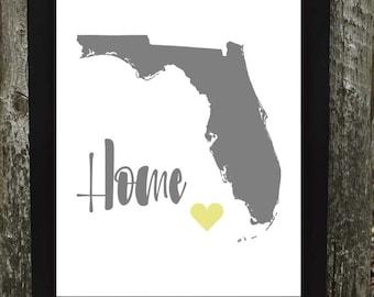 Home- Florida Print
