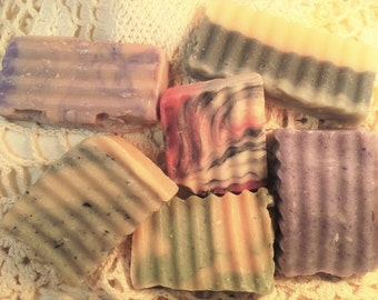 Free Shipping - 4 bars of Sample Soap - Generous Size - Homemade