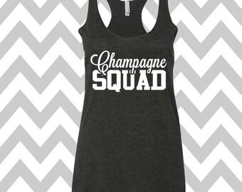 Champagne Squad Tank Top Flowy Tank Top Bachelorette Party Tank Top Wedding party tanks Bridesmaid Tank Top Bridal Party Tanks Brunch Top