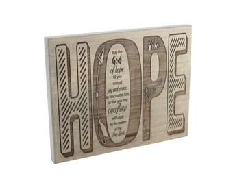 Inspirational Gift/ Christian Gift/ Scripture Art/ Christian Sign/ Encouragement/ Hope/ Romans
