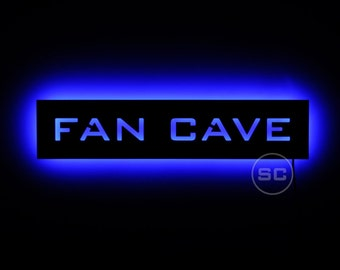 Lighted Fan Cave Sign for Sports Fans - Fan Cave LED Sign - Customizable
