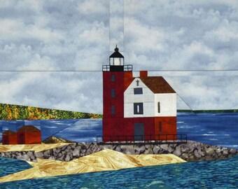 Round Island, MI Lighthouse quilt pattern