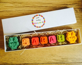 Personalised name crayons with shapes