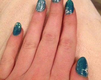 nail art of the snow Queen