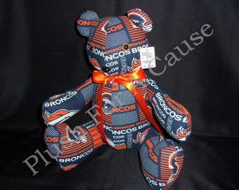 Denver Broncos Bear ~ Stuffed with Love by Plush For A Cause