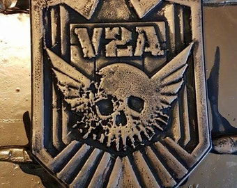 V2A Judge Dredd 2012 badge - very limited edition