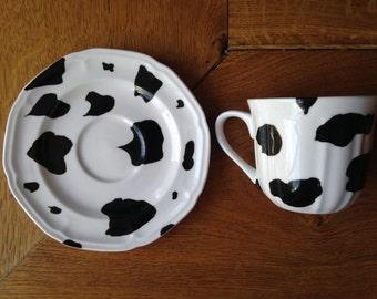Moo-moo: hand-painted cup