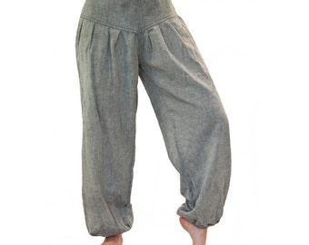 Grey harem pants, L-XL, cotton