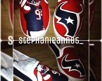 Custom Hand Painted Houston Texans Shoes