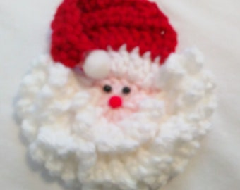 Santa Face Pin or Ornament